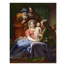 HOLY FAMILY WITH GRANDPARENTS CHRISTMAS CARDS