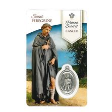 HEALING SAINT PEREGRINE - HOLY CARD WITH MEDAL