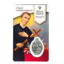 HEALING SAINT GERARD - HOLY CARD WITH MEDAL