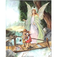 GUARDIAN ANGEL ON BRIDGE - UNFRAMED PRINT 8 X 10