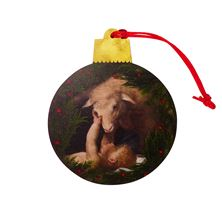 BEHOLD THE LAMB OF GOD WOOD ORNAMENT
