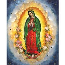 GUADALUPE WITH FLOWERS - UNFRAMED PRINT 8 X 10