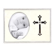 BABY PHOTO FRAME WITH CROSS