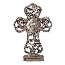 ANTIQUED FILIGREE STANDING CONFIRMATION CROSS