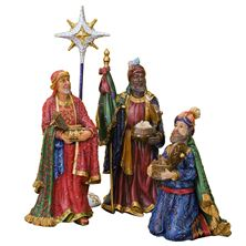 SET OF THREE KINGS AND CHRISTMAS STAR - 9 INCHES