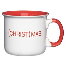 (CHRIST)MAS MUG WHITE WITH RED LETTERS