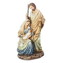 BLUE AND IVORY HOLY FAMILY FIGURINE