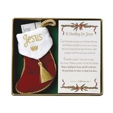 A STOCKING FOR JESUS - ORNAMENT