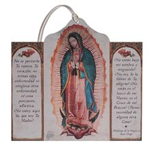 SPANISH OUR LADY OF GUADALUPE TRIPTYCH ORNAMENT