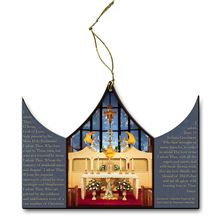 OUR LADY OF THE ANGELS CHAPEL TRIPTYCH ORNAMENT