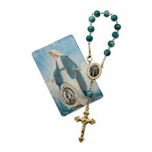 OUR LADY OF GRACE AUTO ROSARY WITH PRAYER CARD