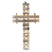 THE LORD'S PRAYER OLIVE WOOD CROSS-SMALL