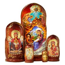 NATIVITY ICON NESTING DOLLS