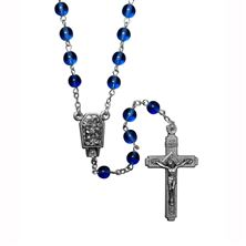 BLUE LOURDES WATER ROSARY