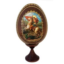 ST. GEORGE WOODEN EGG ICON
