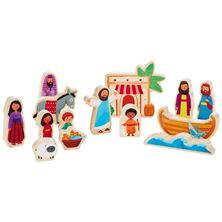 JESUS AND FRIENDS WOOD PLAY SET (14-Pieces)