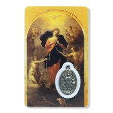 MARY UNDOER OF KNOTS HOLY CARD WITH MEDAL