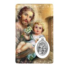 ST. JOSEPH HOLY CARD WITH MEDAL