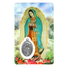 VIRGEN DE GUADALUPE HOLY CARD W/ MEDAL-SPANISH