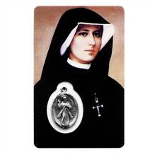 ST. FAUSTINA HOLY CARD WITH MEDAL