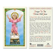 LAMINATED HOLY CARD - DIVINE CHILD
