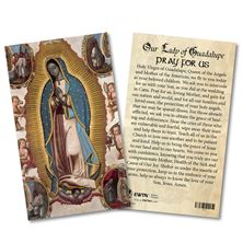 VIRGIN OF GUADALUPE LAMINATED HOLY CARD