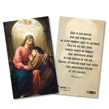 GOD IS OUR REFUGE LAMINATED HOLY CARD