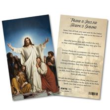 PRAYERS FOR HEALING AND GUIDANCE LAMINATED SPANISH HOLY CARD