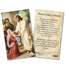 PRAYER IN TIMES OF EPIDEMICS LAMINATED HOLY CARD