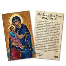 OUR LADY OF GOOD HEALTH LAMINATED HOLY CARD