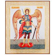 ST. MICHAEL GOLD AND SILVER FOIL ICON