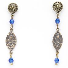 OUR LADY OF THE ANGELS CAPRI SWAROVSKI EARRINGS