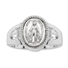 MIRACULOUS MEDAL RING WITH CUBICS