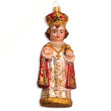 INFANT OF PRAGUE FIGURINE - BLOWN GLASS ORNAMENT