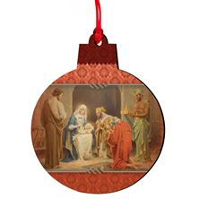 CHAMBER'S NATIVITY WOOD CHRISTMAS ORNAMENT (MINI)