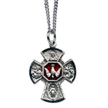 4-WAY HOLY SPIRIT MEDAL W/ RED ENAMEL (SMALL)