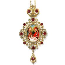 NATIVITY JEWELED ICON ORNAMENT