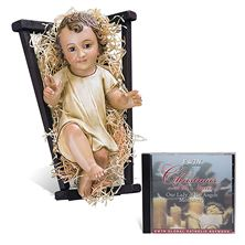 INFANT JESUS STATUE AND FREE CHRISTMAS CD