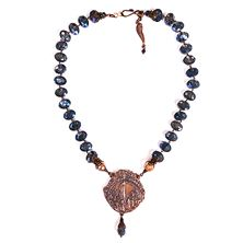 BLUE CRYSTAL NECKLACE - OUR LADY OF FATIMA
