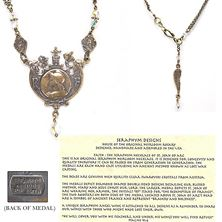 ST. JOAN OF ARC CLEAR SWAROVSKI NECKLACE