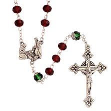 RED AND GREEN CHRISTMAS ROSARY