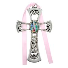 GUARDIAN ANGEL CRIB MEDAL - GIRL