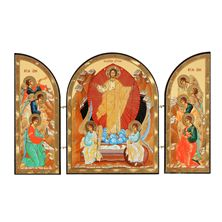 RESURRECTION OF CHRIST ARCHED TRIPTYCH