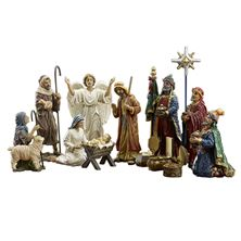14-PIECE SET - REAL LIFE NATIVITY - 7 INCHES