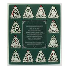 THE 12 DAYS OF CHRISTMAS ORNAMENT SET