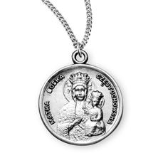 OUR LADY OF CZESTOCHOWA MEDAL - STERLING SILVER