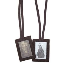 HOLY FACE BROWN SCAPULAR