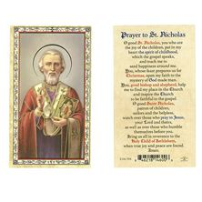 ST. NICHOLAS LAMINATED HOLY CARD