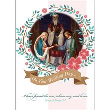 MARRIAGE OF JOSEPH and MARY WEDDING CARD