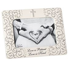 LOVE IS PATIENT WEDDING PICTURE FRAME - LARGER